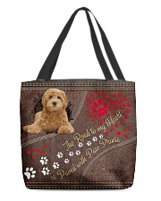 Labradoodle-dog-the-road-to-my-heart All-over Tote front