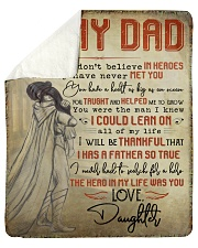 """Some People Don't Believe In Heroes To Dad Sherpa Fleece Blanket - 50"""" x 60"""" thumbnail"""
