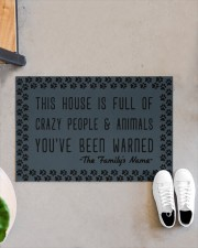 """This house is full of crazy people n animals Doormat 22.5"""" x 15""""  aos-doormat-22-5x15-lifestyle-front-07"""