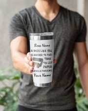 Personalized Name Best Boss ever Harder to find 20oz Tumbler aos-20oz-tumbler-lifestyle-front-15