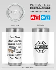 Personalized Name Best Boss ever Harder to find 20oz Tumbler aos-20oz-tumbler-lifestyle-front-60