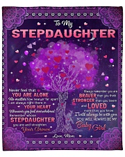 """Never Feel That U Are Alone Mom To Stepdaughter Fleece Blanket - 50"""" x 60"""" front"""