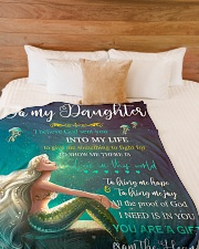 "You Are The Gift From The Heavens Mom To Daughter Large Fleece Blanket - 60"" x 80"" aos-coral-fleece-blanket-60x80-lifestyle-front-02"