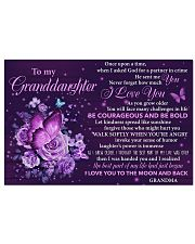 GD Purple Butterfly I Love U To The Moon And Back 17x11 Poster front