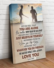 Never Feel That U Are Alone Baseball Dad To Son 16x24 Gallery Wrapped Canvas Prints aos-canvas-pgw-16x24-lifestyle-front-08