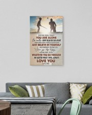 Never Feel That U Are Alone Baseball Dad To Son 16x24 Gallery Wrapped Canvas Prints aos-canvas-pgw-16x24-lifestyle-front-16