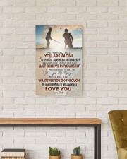 Never Feel That U Are Alone Baseball Dad To Son 16x24 Gallery Wrapped Canvas Prints aos-canvas-pgw-16x24-lifestyle-front-17