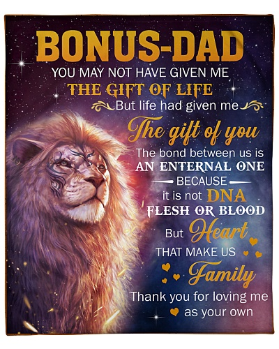 Bonus Dad Lion Thanks For Loving Me As Your Own