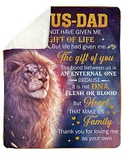 Bonus Dad Lion Thanks For Loving Me As Your Own Sherpa Fleece Blanket tile