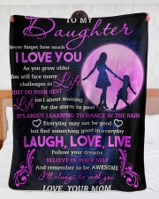 "Daughter Follow Your Dreams Believe In Your Self Large Sherpa Fleece Blanket - 60"" x 80"" aos-sherpa-fleece-blanket-60x80-lifestyle-front-23"