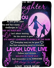 """Daughter Follow Your Dreams Believe In Your Self Large Sherpa Fleece Blanket - 60"""" x 80"""" front"""