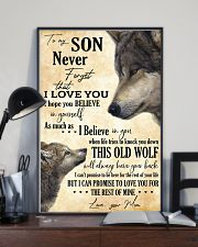 To My Son Never Forget That I Love You 11x17 Poster lifestyle-poster-2