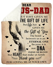 "Bonus Dad - Thank You For Loving Me As Your Own Sherpa Fleece Blanket - 50"" x 60"" thumbnail"