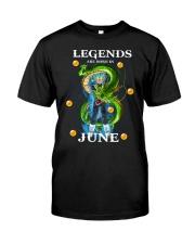 Dragon Vegeta Legends are born in June Classic T-Shirt front