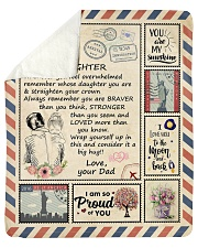 """I Love You To The Moon And Back - Dad-To-Daughter Sherpa Fleece Blanket - 50"""" x 60"""" thumbnail"""