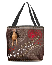 Rhodesian-Ridgeback-dog-the-road-to-my-heart All-over Tote back