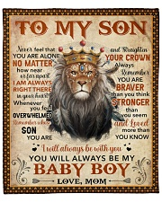 """Mom To Son Never Feel U Are Alone Lion  Fleece Blanket - 50"""" x 60"""" front"""