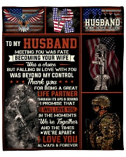 """Husband Army Thanks For Being A Great Life Partner Fleece Blanket - 50"""" x 60"""" front"""