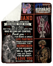 """Husband Army Thanks For Being A Great Life Partner Sherpa Fleece Blanket - 50"""" x 60"""" thumbnail"""