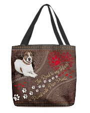 Jack-Russell-Terrier-dog-the-road-to-my-heart All-over Tote back