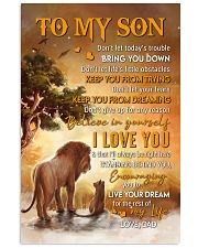 Don't Let Today's Trouble Bring U Down-Dad To Son Vertical Poster tile