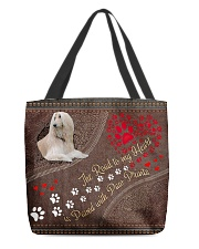 Borzoi-dog-the-road-to-my-heart All-over Tote front