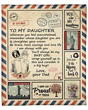 """I Love You To The Moon And Back Dad-To-Daughter Fleece Blanket - 50"""" x 60"""" front"""