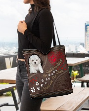 Coton-de-Tulear-dog-the-road-to-my-heart All-over Tote aos-all-over-tote-lifestyle-front-04