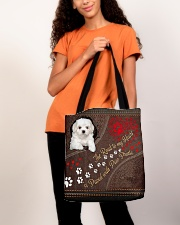 Coton-de-Tulear-dog-the-road-to-my-heart All-over Tote aos-all-over-tote-lifestyle-front-06