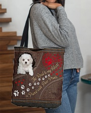Coton-de-Tulear-dog-the-road-to-my-heart All-over Tote aos-all-over-tote-lifestyle-front-09