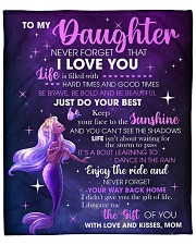 """Never Forget That I Love U Mermaid Mom To Daughter Fleece Blanket - 50"""" x 60"""" front"""