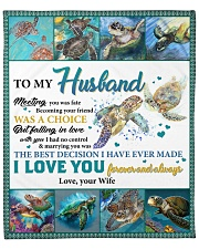 """Husband Turtle Marrying You Was The Best Decision Fleece Blanket - 50"""" x 60"""" front"""