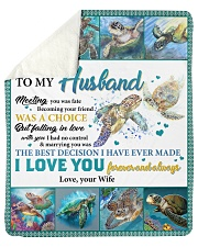 Husband Turtle Marrying You Was The Best Decision Sherpa Fleece Blanket tile