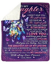 """I Didn't Give U The Gift Of Life Mom To Daughter Sherpa Fleece Blanket - 50"""" x 60"""" thumbnail"""