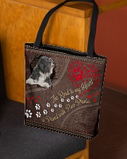 Tibetan-Terrier-dog-the-road-to-my-heart All-over Tote aos-all-over-tote-lifestyle-front-02