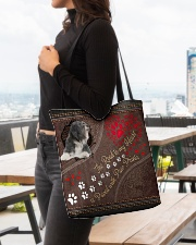 Tibetan-Terrier-dog-the-road-to-my-heart All-over Tote aos-all-over-tote-lifestyle-front-04