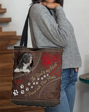 Tibetan-Terrier-dog-the-road-to-my-heart All-over Tote aos-all-over-tote-lifestyle-front-09