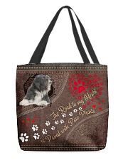 Tibetan-Terrier-dog-the-road-to-my-heart All-over Tote front