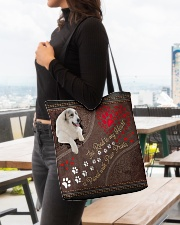 Great-Pyrenees-dog-the-road-to-my-heart All-over Tote aos-all-over-tote-lifestyle-front-04