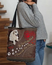 Great-Pyrenees-dog-the-road-to-my-heart All-over Tote aos-all-over-tote-lifestyle-front-09