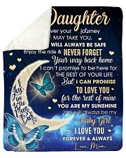 Daughter Half Moon Promise To Love U For The Rest Sherpa Fleece Blanket tile
