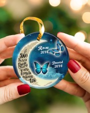 Personalized Believe There Are Angles To Daughter Circle ornament - single (porcelain) aos-circle-ornament-single-porcelain-lifestyles-08
