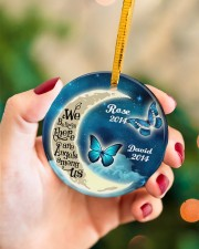 Personalized Believe There Are Angles To Daughter Circle ornament - single (porcelain) aos-circle-ornament-single-porcelain-lifestyles-09