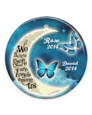 Personalized Believe There Are Angles To Daughter Circle ornament - single (porcelain) front