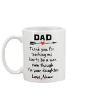 Personalized name Dad teaching me how - daughter Mug back