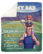 So Much Of Me Is Made From What I Learned To Dad  Sherpa Fleece Blanket tile
