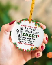 Anyone Can Be Dad But It Takes A Special Kinda Circle ornament - single (porcelain) aos-circle-ornament-single-porcelain-lifestyles-09