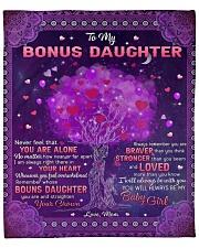 "Never Feel That U Are Alone Mom To Bonus Daughter Fleece Blanket - 50"" x 60"" front"
