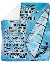 "Today Is A Good Day Have Great Day Sailing Sherpa Fleece Blanket - 50"" x 60"" thumbnail"