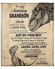 "Never Forget I Love U Grandma To Grandson Fleece Blanket - 50"" x 60"" front"